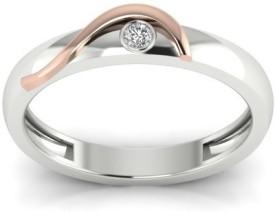 Alluring Silver Swarovski Zirconia Platinum Ring