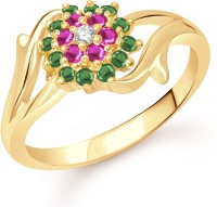 VK Jewels Flowery Dreams Alloy Cubic Zirconia Yellow Gold Ring
