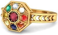 BlueStone The Nav Kavach Yellow Gold Ruby, Diamond 14K Yellow Gold 14 K Ring
