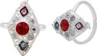Memoir Elegant Design Brass Cubic Zirconia Silver NA K Toe Ring