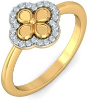 BlueStone The Protected Bloom Yellow Gold Diamond 14 K Ring