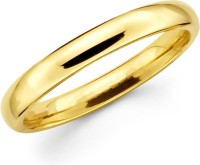 Seeyara Wedding Band Brass 22K Yellow Gold Ring