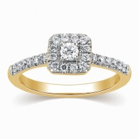 Kama Jewellery Paola Yellow Gold Diamond Yellow Gold 18 K Ring