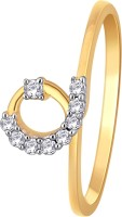 GlitzDesign 0.12 CTW Outstanding-In-The-Loop 18kt Diamond Yellow Gold Ring