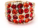 Khoobsurati Lavishing Metallic Studded Crystal, Metal Ring