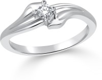 Classic Classic Delicate Solitare Rhodium Plated Ring For Women Size16 [CJ1024FRR16] Alloy Cubic Zirconia White Gold 18 K Ring