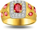 Surat Diamond Elegant Diamond Gold Ring SDR1030 Yellow Gold Diamond, Ruby Ring