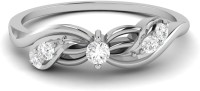 Ciemme 0.17 Ct. Promise Of Forever Love Ladies Sterling Silver Cubic Zirconia 18K White Gold Ring