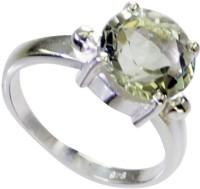 Riyo Captivating Green Amethyst Sterling Silver Amethyst Ring