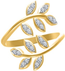 Twisha Alloy Cubic Zirconia Yellow Gold Ring