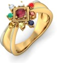 BlueStone The Vividh Tej Yellow Gold Diamond, Ruby Ring
