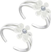 Star Silver Floral Design Antique 925 Sterling Silver Toe Ring Set