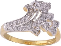 Be You Diamond-look Brass Cubic Zirconia 18K White Gold, 18K Yellow Gold, Rhodium Plated Ring