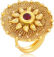 Sukkhi Divine Designer Traditional Cocktail Jalebi Gold Plated Alloy 18K Yellow Gold Ring