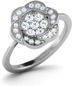 CaratLane Avarose Silver Diamond Ring