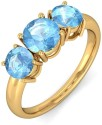 BlueStone The Regal Trinity Gold Topaz Ring