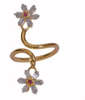 Studio R By Ratnakar Two Flower New Fashion Brass Ring