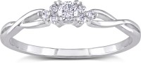 AG Jewellery Real Diamond Fashion SR0229 Sterling Silver Diamond Silver Ring