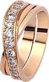 Soleti Linked Forever Brass Yellow Gold Ring