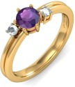 BlueStone The Coloured Passion Gold Diamond, Amethyst Ring