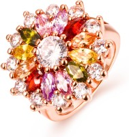Yellow Chimes Sparkling Glamourously Swiss Zircon Alloy Rose Gold Plated Ring