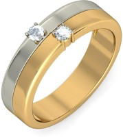BlueStone The Dual Sonata For Him Gold Diamond 18K Yellow Gold Plated 18 K Ring