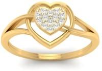 Jewels5 Clandestine Yellow Gold Diamond Rhodium Plated 18 K Ring