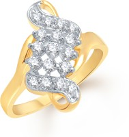 VK Jewels Alloy 18K Yellow Gold Ring