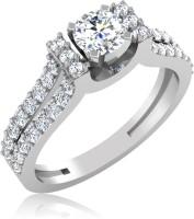 IskiUski Samorn Solitaire Gold Swarovski Crystal Platinum Plated 14 K Ring