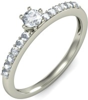 BlueStone The Crowned 18kt Diamond White Gold Ring