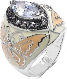 Johareez Fashion Brass Cubic Zirconia Brass Ring