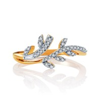 Karatcraft Dyumna Yellow Gold Diamond 18 K Ring