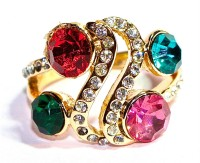 Beauty Of Life Beautiful Multicolour Stones Fashion Ring Alloy Ring