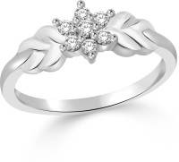 Classic Radiance Rhodium Plated Ring For Women Size13 [CJ1020FRR13] Alloy Cubic Zirconia White Gold 18 K Ring