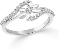 Classic Star Rhodium Plated Ring For Women Size13 [CJ1059FRR13] Alloy Cubic Zirconia White Gold 18 K Ring
