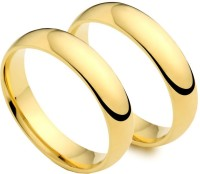 Italian Fashion Love Band Alloy 21K Yellow Gold Plated Ring Set