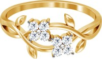JacknJewel Enchanting Floral Yellow Gold Diamond 18K Yellow Gold Plated 18 K Ring