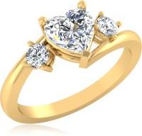 IskiUski Gold Swarovski Crystal 22K Yellow Gold Plated Ring