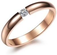 Aaishwarya Rose Gold Wedding Band Alloy Crystal 18K Rose Gold Plated Ring
