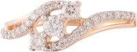 Wite&Gold Glamour Whirl Yellow Gold Diamond 18K Yellow Gold 18 K Ring