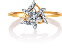 Karatcraft Trigon Yellow Gold Diamond 18 K Ring