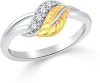 Classic Leafy Shadow Gold & Rhodium Plated Ring For Women Size8 [CJ1053FRRG8] Alloy Cubic Zirconia White Gold 18 K Ring