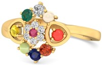 WearYourShine By PCJ The Enya 18kt Diamond, Ruby, Emerald, Sapphire, Coral, Garnet, Cat's Eye Yellow Gold Ring