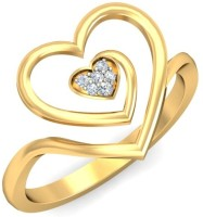Demira Jewels Connecting Hearts Yellow Gold Diamond 14 K Ring
