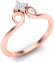 Theme Jewels Theme Jewels Casual LR-0145, Certified Real Diamond & 14Kt Hallmarked Pink Gold Ring Gold Diamond 14 K Ring
