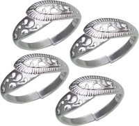 Aman Casual Wear Silver NA Silver Plated  K Toe Ring