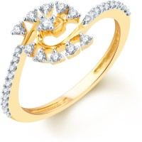 Karatcraft Princess Crown Yellow Gold Diamond 18 K Ring