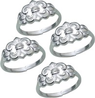 Aman Party Wear Silver NA Silver Plated  K Toe Ring