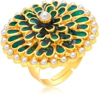 Sukkhi Gleaming Designer Traditional Cocktail Gold Plated Alloy 18K Yellow Gold Ring