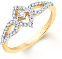Karatcraft Two Leaves Yellow Gold Diamond 18 K Ring